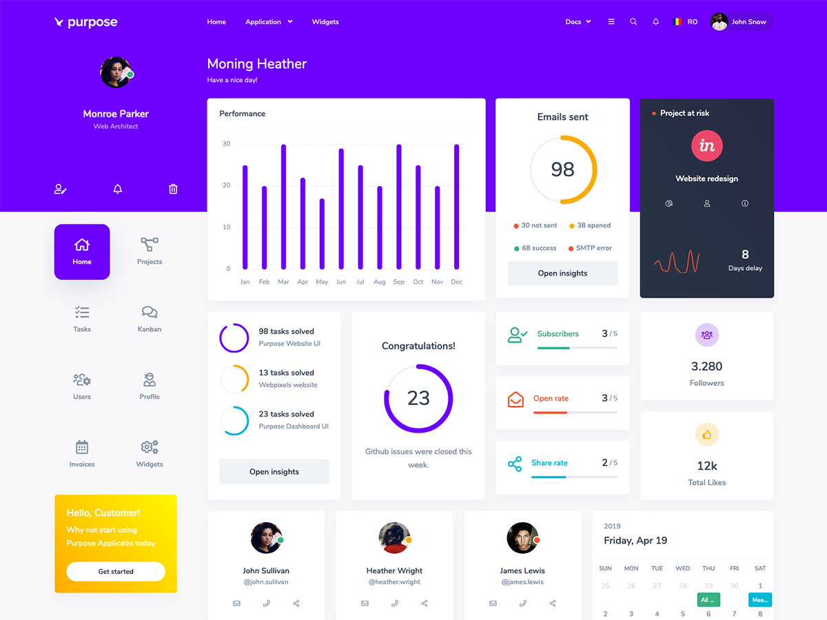 Purpose Application UI Kit