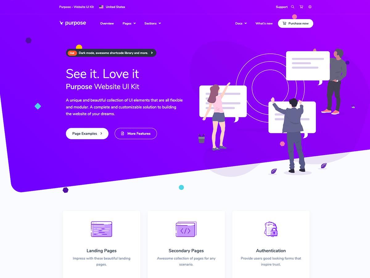 Purpose Website UI Kit