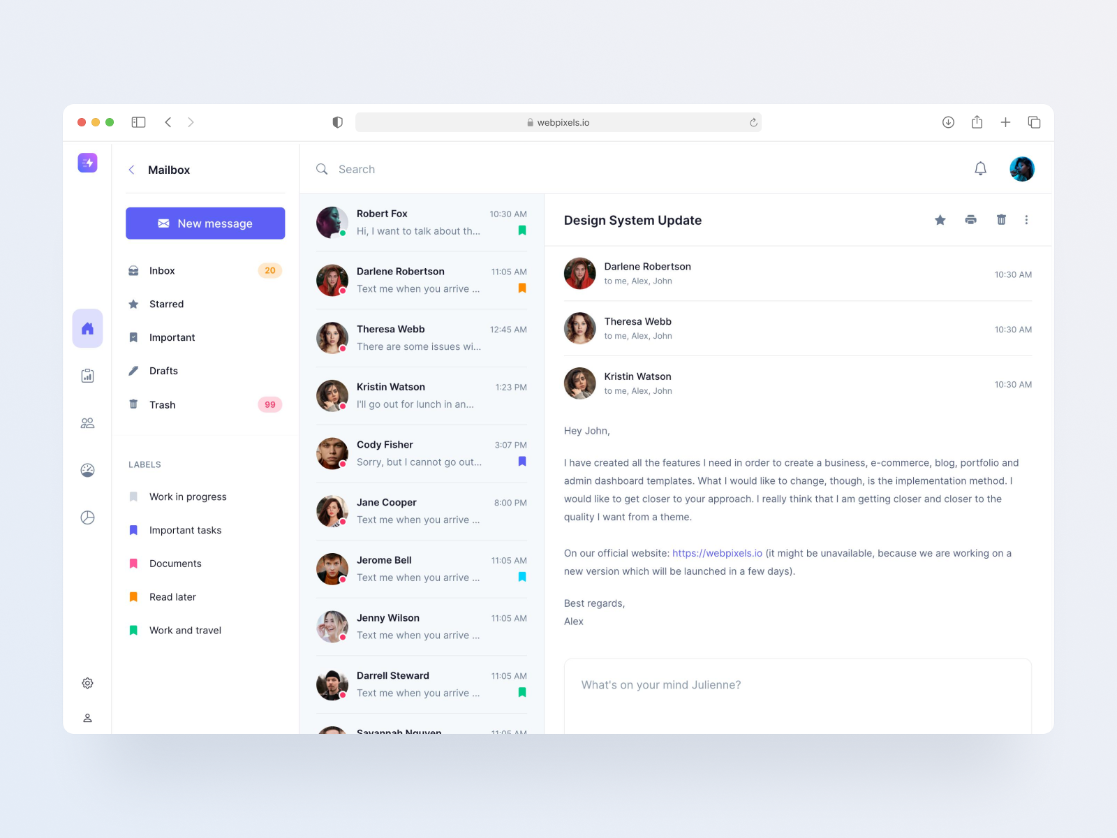 Bootstrap chat template